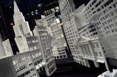 Manhattan dat van document wordt gesneden Stock Foto