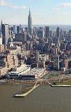 Manhattan de cima de, EUA Fotos de Stock Royalty Free