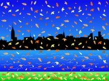 Manhattan in de herfst Royalty-vrije Stock Foto