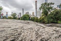 Manhattan de la roca del árbitro, Central Park fotos de archivo libres de regalías