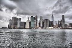 Manhattan de stad in Royalty-vrije Stock Foto