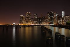 manhattan De Stad van New York De Verenigde Staten van Amerika Royalty-vrije Stock Afbeeldingen
