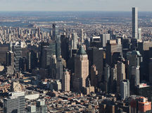 Manhattan desde arriba, los E.E.U.U. Imágenes de archivo libres de regalías