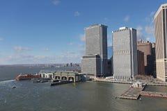 Manhattan desde arriba, los E.E.U.U. Fotografía de archivo