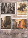 Manhattan digital postcards Royalty Free Stock Photo