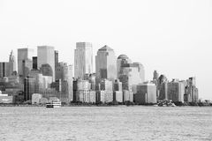 Manhattan Downtown in black and white Stock Images