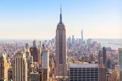 Manhattan downtown, Empire State Building closeup Stock Photography
