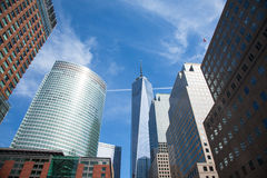 Manhattan downtown financial district, New York  - USA Royalty Free Stock Images