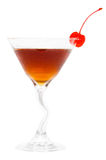 Manhattan Drink. Alcoholic drink isolated on white background Royalty Free Stock Photo