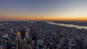 Manhattan durante il tramonto video d archivio