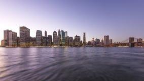 Manhattan durante la puesta del sol almacen de metraje de vídeo