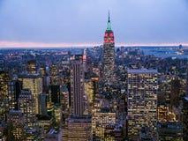 Manhattan at Dusk Stock Photography