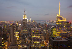 Manhattan at Dusk, New York City Royalty Free Stock Photos