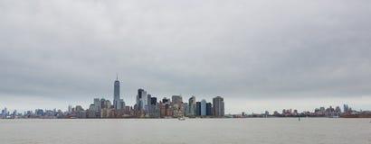 Manhattan e orizzonte di Bronyx Immagine Stock