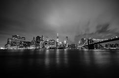 Manhattan e ponte di Brooklyn Fotografia Stock