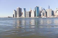 Manhattan e ponte di Brooklyn immagine stock libera da diritti