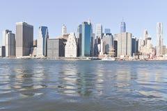 Manhattan e ponte di Brooklyn Immagine Stock