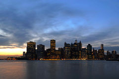Manhattan e ponte di Brooklyn Immagini Stock Libere da Diritti