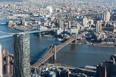 Manhattan e ponti del centro Immagine Stock Libera da Diritti