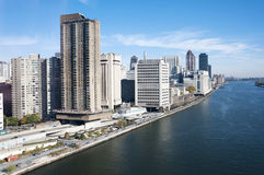 Manhattan - East river and Roosevelt island Stock Image