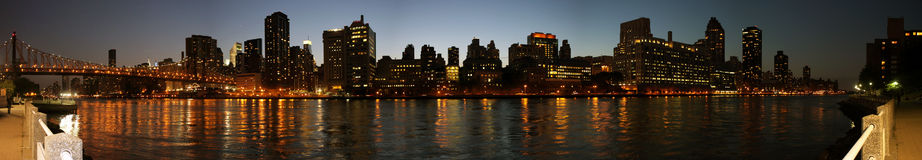 Manhattan eastside panoramic Stock Photography