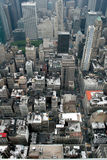 Manhattan from the Empire State Building. Standing on top of the world; a wondrous view of a world leading city, from the top of the Empire State Building Stock Photos