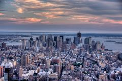 Manhattan from empire state building view Royalty Free Stock Image