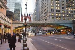 Manhattan en la Navidad Imágenes de archivo libres de regalías
