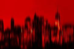 Manhattan en la noche imagen de archivo