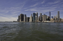 Manhattan et pont de Manhattan Photo stock