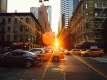 Manhattan Evening Commute, iPhone photo. Royalty Free Stock Images