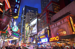 manhattan för stadsområde ny teater york Royaltyfri Foto
