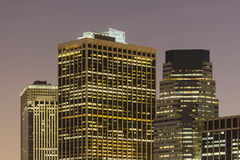 Manhattan Financial Center At Night. The Manhattan Financial Center skyline in New York City at night Royalty Free Stock Image