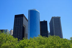 Manhattan financial district buildings Royalty Free Stock Image
