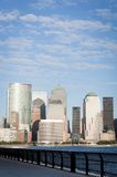 Manhattan Financial District  from Jersey city Stock Photo