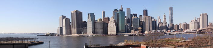 Manhattan Financial District panorama Stock Photography