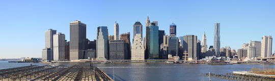 Manhattan Financial District panorama Royalty Free Stock Image