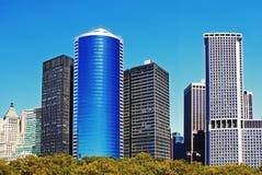Manhattan finansiella områdesbyggnader Arkivbild