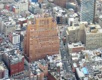 Manhattan flyg- bild royaltyfria foton