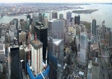 Manhattan flyg- bild royaltyfri bild