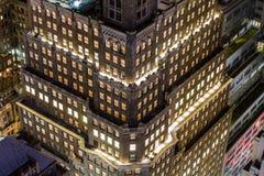 Manhattan flyg- sikt Arkivfoton