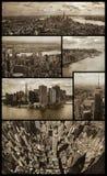 Manhattan flyg- sikter på grunge Royaltyfri Foto