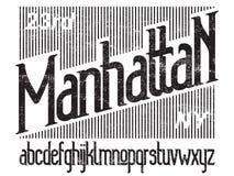Manhattan font set Royalty Free Stock Photos