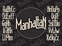 Manhattan font set Stock Photo