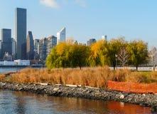 Manhattan från Queens Arkivbild