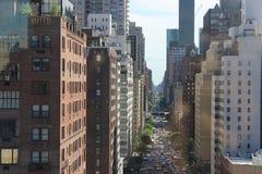 Manhattan gata Fotografering för Bildbyråer