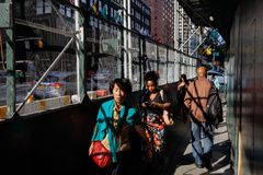 Manhattan gataplats Royaltyfri Fotografi