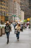 Manhattan gataplats, NYC Fotografering för Bildbyråer