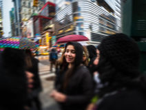 Manhattan gataplats, NYC Arkivfoto