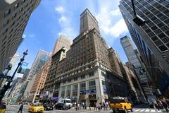 Manhattan genomskärning och skyskrapor Arkivbilder